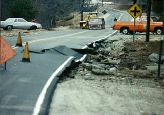 Destroyed road
